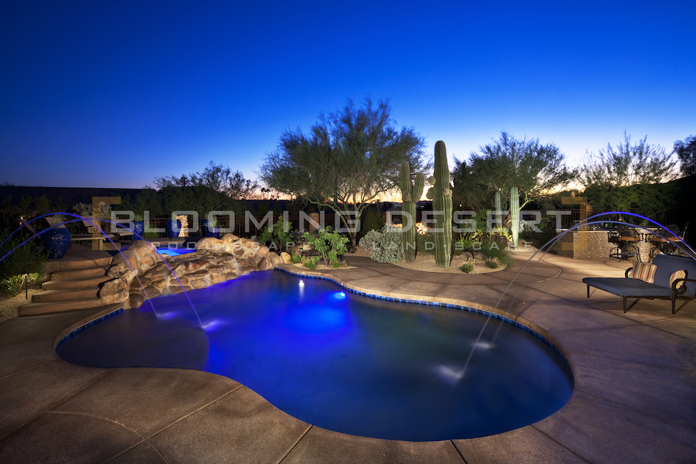 Modern pool design styles blooming desert pools landscape for Pool design types