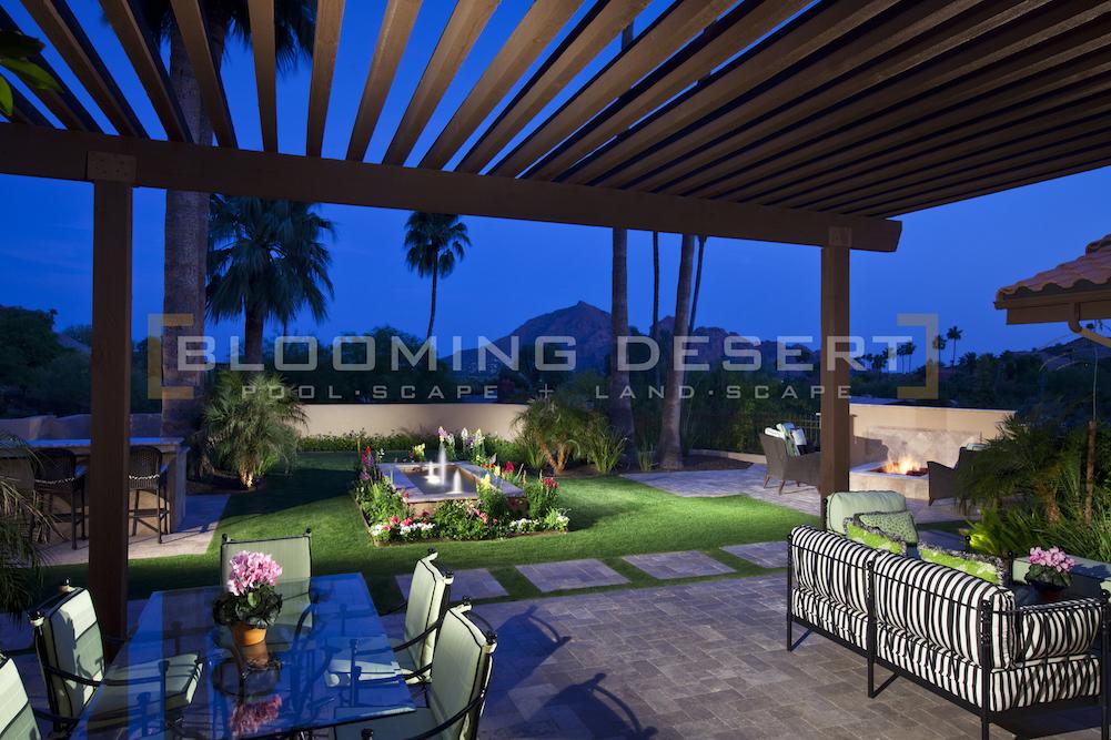 Custom Landscape Lighting Ideas Blooming Desert Pools Landscape